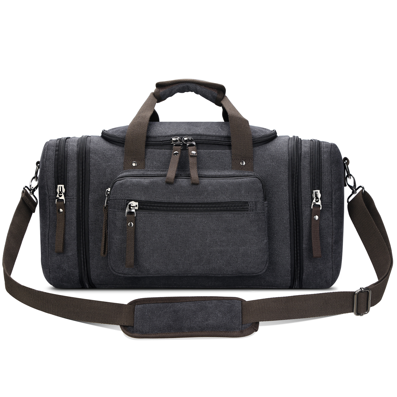 Toupons Canvas Travel Tote Luggage Men s Weekender Duffle Bag ... 947df068c5b5